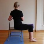 Five-Minute Yoga Challenge: twist in a chair to free your back