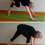 Five-Minute Yoga Challenge: step forward from downward dog