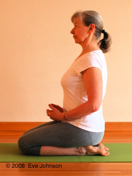 Sit on your heels in Virasana, hero pose