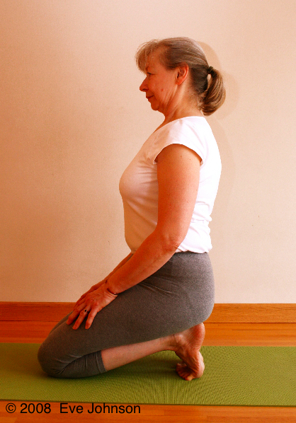 Stretch open the backs of your toes.