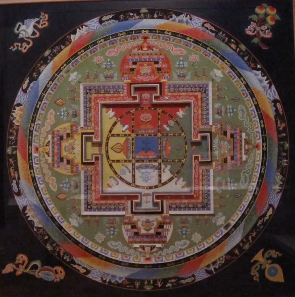 "A Tibetan mandala –""the cosmic blueprint of the celestial palace of Yamantaka, Conqueror of Death"