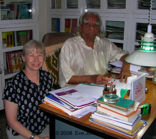 Guruji and me, taken in July 2008 in the library at the Institute in Pune