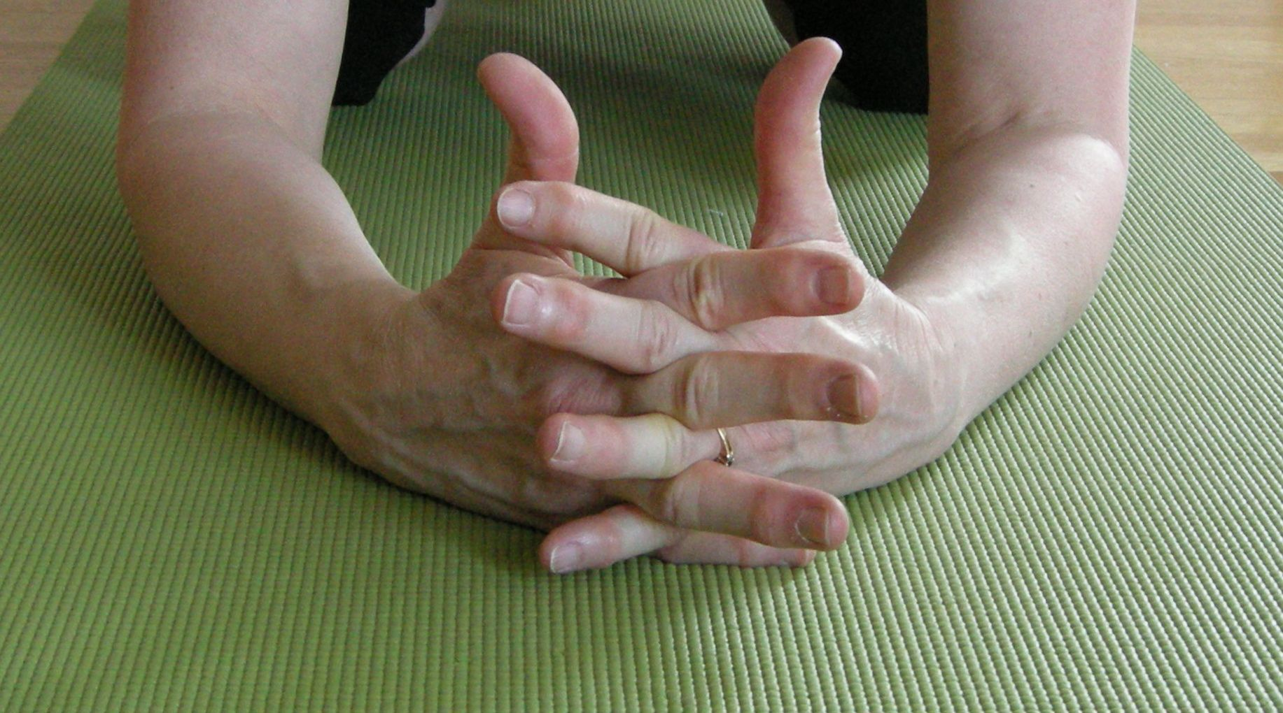 Stretch your fingers away from each other