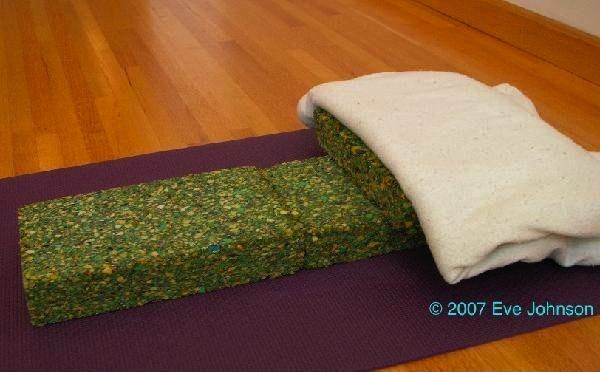 This set up will tip your head into place for pranayama, and relax your diaphragm