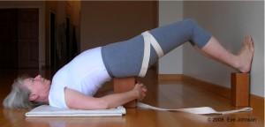 Position the block under your pelvis.