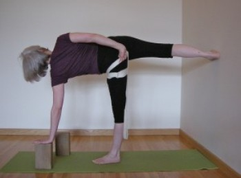 supported half-moon pose