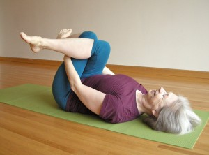 supine outer hip stretch