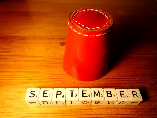 september in scrabble tiles