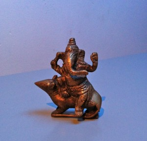 guide to home yoga practice: ganesh riding rat