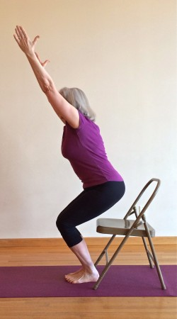utkatasana to chair seat